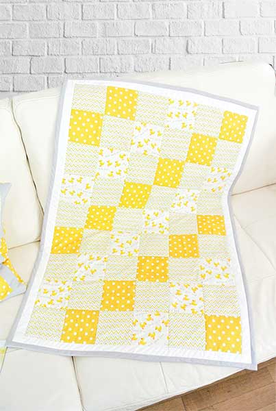 Baby quilt -ελαφρύ παπλωμάτακι παπάκια